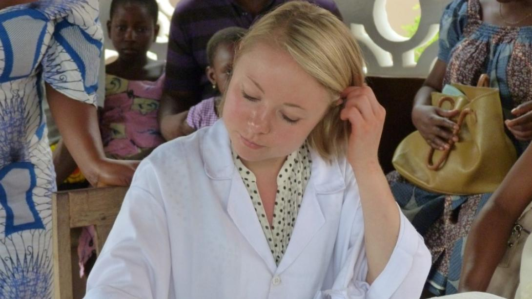 A medical student in Togo